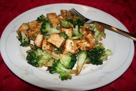 Sesame Tofu stirfry