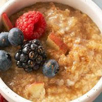 Creamy Steel Cut Oatmeal topped w/Mixed Berries