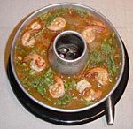 Curried Vegetable Soup with Shrimp