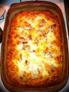 Turkey Pepperoni Pizza Bake