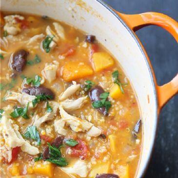 Chicken Stew with Butternut Squash and Quinoa