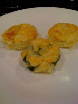 Baked Spinach Egg Ham muffins