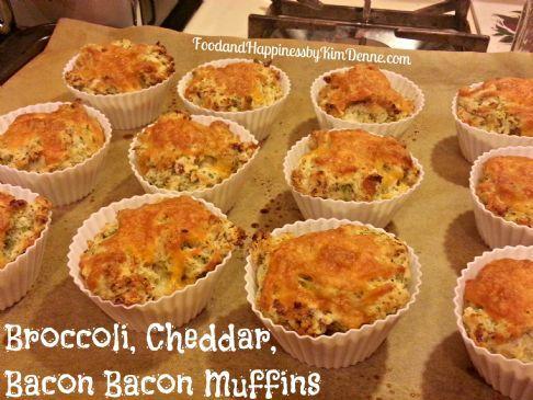 Broccoli, Cheddar, Bacon Bacon Muffins