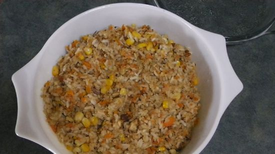 Veggie Rice and Quinoa Pilaf with Almonds
