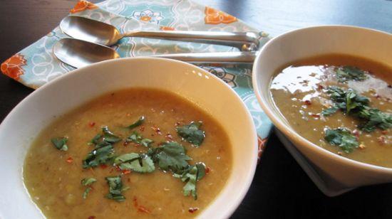 easy lemon red lentil soup