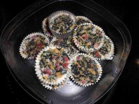 Ham And Spinach Mini Crustless Quiche Recipe Sparkrecipes