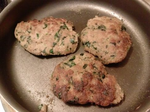 ground turkey burgers with spinach