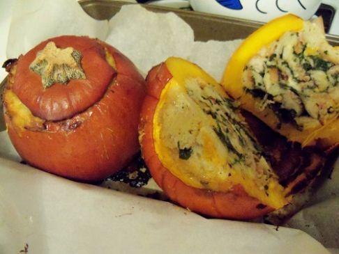 Thanksgiving casserole stuffed pumpkin