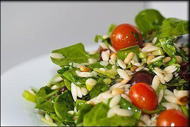 Vegan Lemon Arugula Orzo Salad