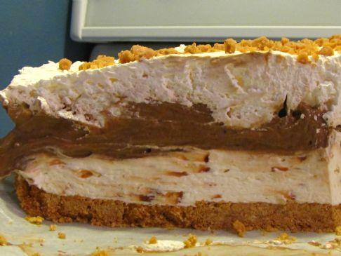 Chocolate Pudding Skor Cheesecake (No-bake)