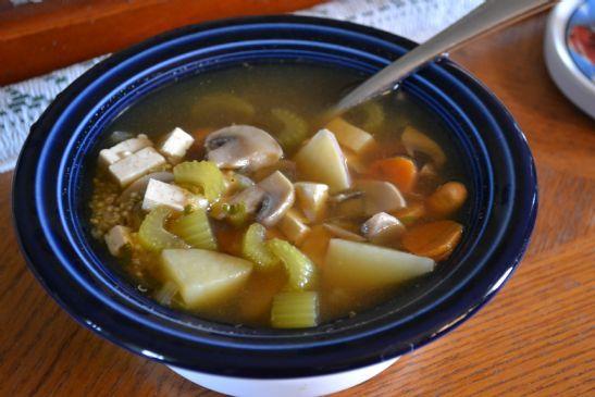 Hearty Vegetable Tofu Quinoa Soup