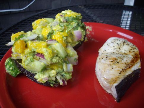 Swordfish & Stuffed Avocados