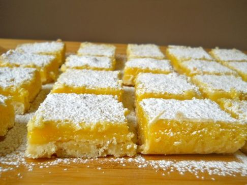 Lusciously Light Lemon Bars
