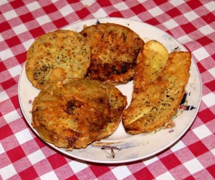 Fried squash and green tomatoes recipe sparkrecipes fried squash and green tomatoes forumfinder Choice Image