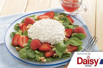 Strawberry, Spinach, & Cottage Cheese Salad from Daisy® Brand