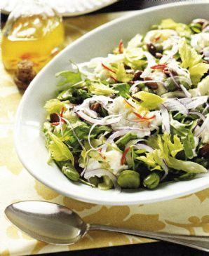 Broad Bean Salad with Buffalo Mozzarella