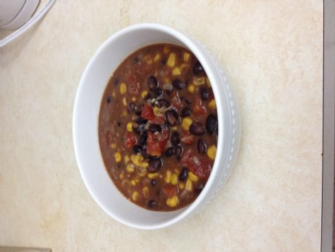Black Bean Tomato Corn Soup