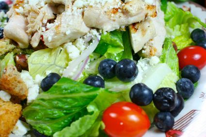 Curried Chicken Salad w/Blueberries & Pecans