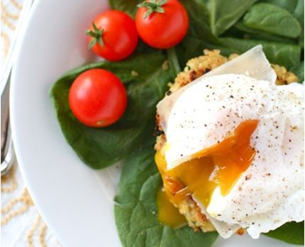 Quinoa Cakes with Poached Eggs - An Annie's Eats recipe