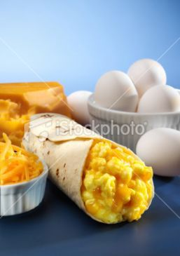 Quick, Easy, and Cheesy breakfast burrito