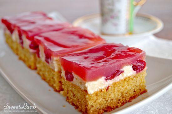 Light cherry cake
