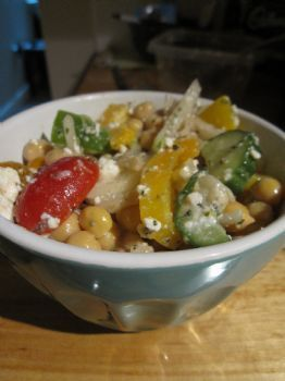 Greek Salad w/ Chickpeas
