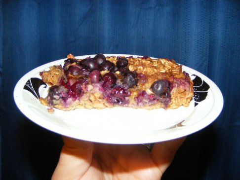Blueberry and Raisin Baked Oatmeal