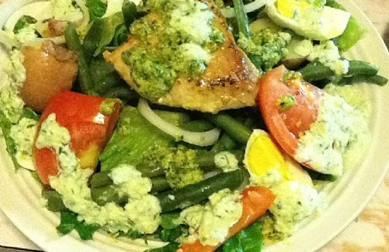 Salad Nicoise (nee - SWAZ) using Fresh Summer Vegetables