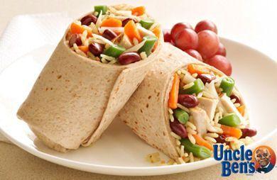 Chicken Rice & Bean Wrap