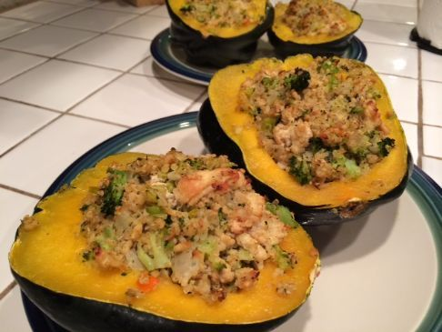 Chicken and Quinoa Stuffed Acorn Squash
