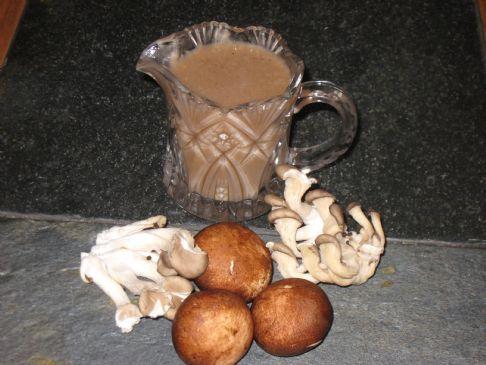 Mushroom Gravy - serving size: 1/4 cup