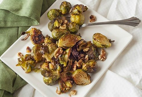 Roasted Brussels Sprouts with Walnutsand Sherry Vinegar