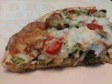 Healthy Pesto Pizza.... (yes.. Health Pizza!)