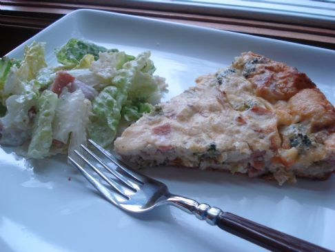 Crustless Quiche part 2(Peameal Bacon, Broccoli & cheese)