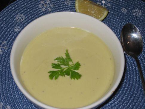 Hummus & Zucchini Soup