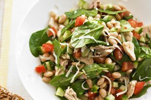 White Bean, Tuna and Spinach Salad