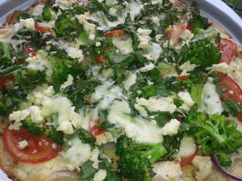 Chicken Spinach n Brocoli Pizza