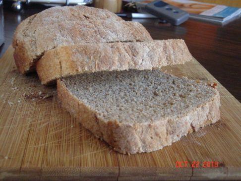 100% whole grain wheat bread
