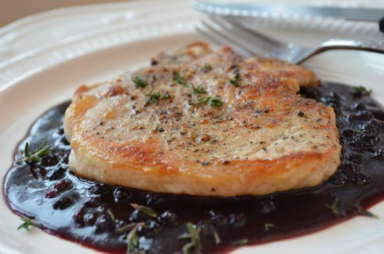 Pork Chops with Raspberry Sauce Recipe | SparkRecipes