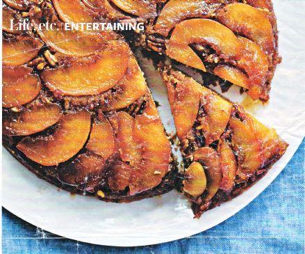 Peach & Pecan Flip Cake