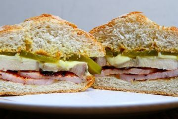 Turkey Ham and Processed American Cheese Sandwich