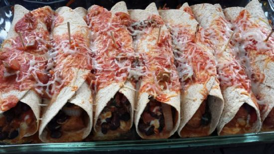 Black Bean & Pork  Enchiladas