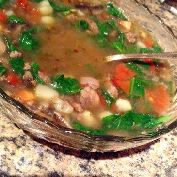Tricolor Beef Soup