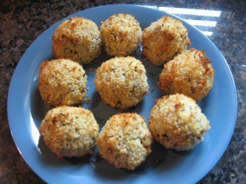 Baked Crab & Asparagus Rice Balls