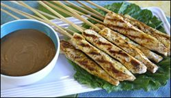 Hungry Girl's Thai Chicken Satay
