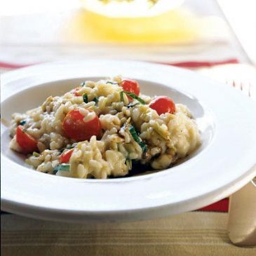 Cooking Light - Risotto with Fresh Mozzarella, Grape Tomatoes and Basil