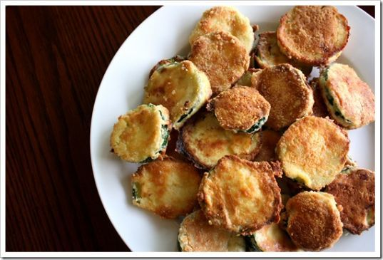 Parmesan Crusted Baked �Fried� Zucchini