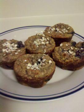 Gluten-Free Oatmeal Blueberry Muffins