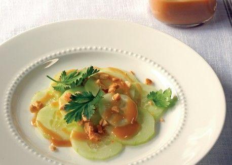 Cucumber Salad with Peanut-Lime Vinaigrette