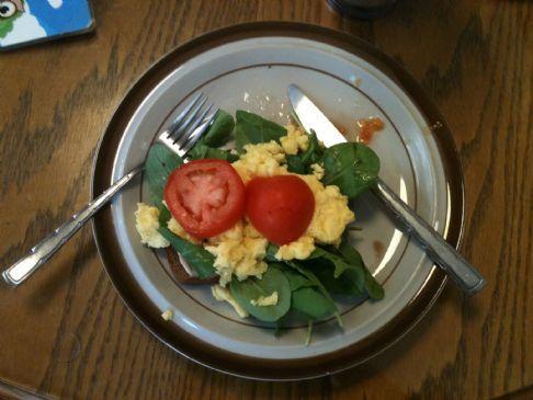 Arugula Eggs